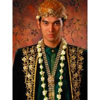 asesoris kalung pengantin pria karset bulat baru
