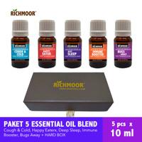 Richmoor Gift Set HARDBOX 5 Essential oil Blend 10 ml