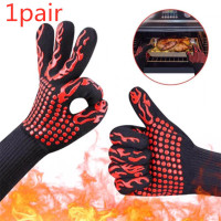 [2PC] Sarung Tangan Oven Anti Panas Heat Resistant Fire Gloves Api BBQ