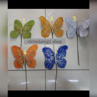 Kupu-kupu dekor Beludru Warna uk. M