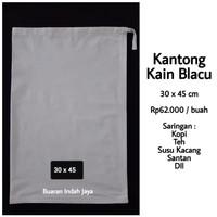 Kantong Kain Blacu (30 x 45 cm) : Saringan Kopi, Teh, Susu Kacang, dll