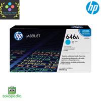 Toner HP LaserJet 646A Cyan CF031A Original - Biru