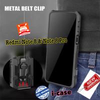 Case Redmi Note 8 / Pro Ultra Case Armor Belt Clip Pinggang New Xiaomi