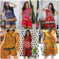 Setelan Celana Pendek Halus |Setelan Batik UnggulJaya