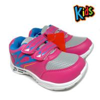 Sepatu Anak Perempuan Pink Grey ALT - Sepatu Anak Sekolah