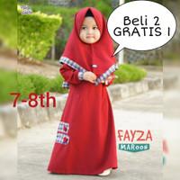 Gamis anak - Dress anak - Baju muslim anak perempuan - Gamis syar'i - Fanta, 7-8 tahun