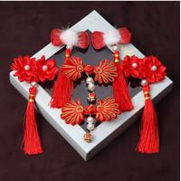 6 Pcs Set Ikat Rambut Anak Cewe GIFT BOX Gaya Kaisar Kerajaan Dysnasty