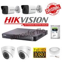 PAKET CCTV HIKVISION FULL HD,DVR 8CH 4CCTV 2MP KOMPLIT + HDD 1TB