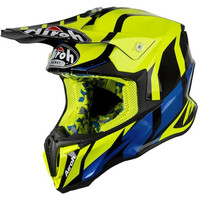 TWIST GREAT YELLOW GLOSS | HELM MOTOR FULL FACE | AIROH | HELM CROSS