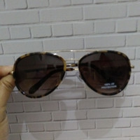 Kacamata Wanita Fossil FW97 Brown Gold Aviator