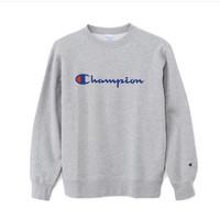 Champion Crewneck Sweater Script Original Japan - Abu / Grey