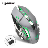 MOUSE WIRELESS GAMING SILENT CLICK RECHARGEABLE WOLF EDITION 1600 DPI