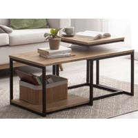 Set Meja Tamu dan Meja Samping / Coffee Table and Side Table Kayu