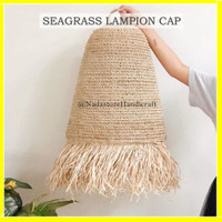 LAMPION CAP SEAGRASS / CUP LAMPU GANTUNG / KAP LAMPU SHADE ANYAMAN