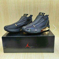 Sepatu Basket Nike air Jordan 34 Se Zipper black