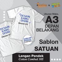 Sablon Kaos Plastisol Bahan Cotton Combed 30s Murah dan Cepat
