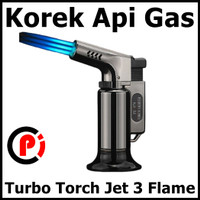Firetric Korek Api Gas Butane Turbo Torch Jet 3 Flame Windproof PE979