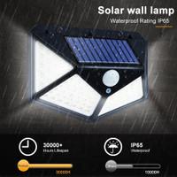 lampu led taman dinding tembok teras otomatis solar power 100 leds