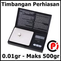 Taffware Pocket Scale Timbangan Mini Perhiasan Emas 0.01g Maks 500g