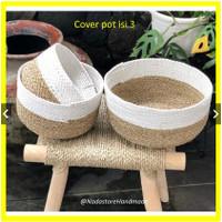 Round Mini Bowl Basket White Combination / keranjang bulat (dpt 3)
