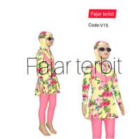 4-7 th baju renang anak TK muslIM baju renang anak perempuan muslimah