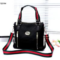 *Tas Gcci Kanvas Vinnilia Tote Sling Bag F2219 Semi Premium*