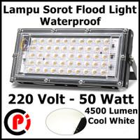 Lampu Sorot Flood Light Waterproof 4500 Lumens 50W Cahaya Putih 6500K
