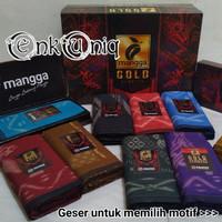 Sarung Mangga Gold Kembang / Sarung Batik Kembang Cap Mangga SMK02