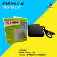 """External Case Harddisk 2.5"""" Toshiba / Casing Harddisk Eksternal 2.5"""""""