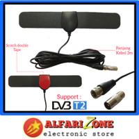 Antena TV indoor digital tempel dinding DVBT2 | Antene dalam TV - Slim