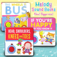 Melody Sound Board Books (NEW! Bigger size) Wheels on the Bus / If You