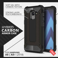 Armor Case Samsung A8 A8+ Plus 2018 Soft & Hard Hardcase Casing Cover