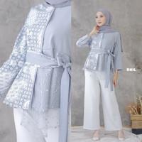Baju Batik Atasan Wanita/Blouse Batik Kombinasi