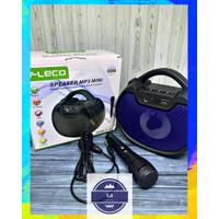 Speaker Bluetooth Karaoke Fleco F-1421 Free Mic - Speker Tenteng Mini