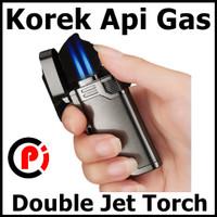Firetric OLOEY Korek Api Gas Lighter Double Jet Torch PL 139 Metal