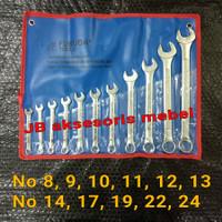KUNCI RING PAS SET 11pcs FUKUDA / COMBINATION SPANNER PERSET 11 pcs