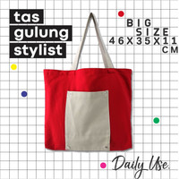 tote bag belanja besar,tas kanvas besar, modern, tas kanvas lipat, new