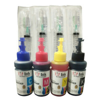 Tinta Brother Paket 4 Botol Dan 4 Suntikan Vip Ink Best Quality