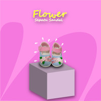 Sepatu Sandal Anak Perempuan Motif Bunga AF01