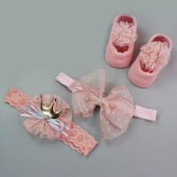 set kaos kaki bandana untuk bayi 3 pcs