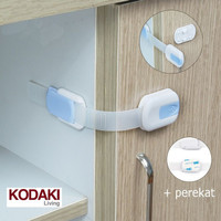 Pengaman lemari laci pintu perabotan Pengait Laci Safety Lock Mika BB-