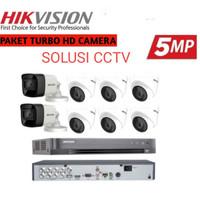 paket cctv Hikvision 8 Channel 8kamera 5mp (hdd 2tb) komplit