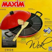 Maxim Wajan Wok + Tutup 40cm | Maxim Wok Chef 40cm
