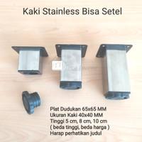 Kaki 40 x 40 mm x 5 cm Stainless Kotak Sofa Meja Lemari Kitchen Besi