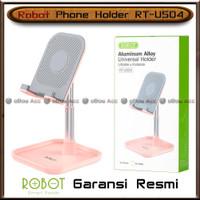 Phone Holder HP Tablet Robot RT-US04 Pink Meja Tempat Universal