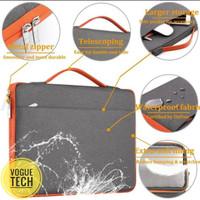 Tas Laptop 14inch Softcase Sleeve Handbag Zipper Waterproof - Grey