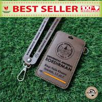 ID CARD HOLDER KULIT COSTUM NAMA & INTANSI/PERUSAHAAN 1 slot card