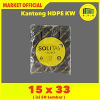 Kantong Plastik Kresek Hitam Tebal UK 15x33 HDPE