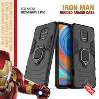 Armor Case Xiaomi Redmi Note 9 Pro Soft Hard Ring Magnet Casing Cover