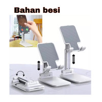 PHONE STAND HP LIPAT UNIVERSAL BAHAN BESI FOLDABLE PHONE HOLDER BESI
